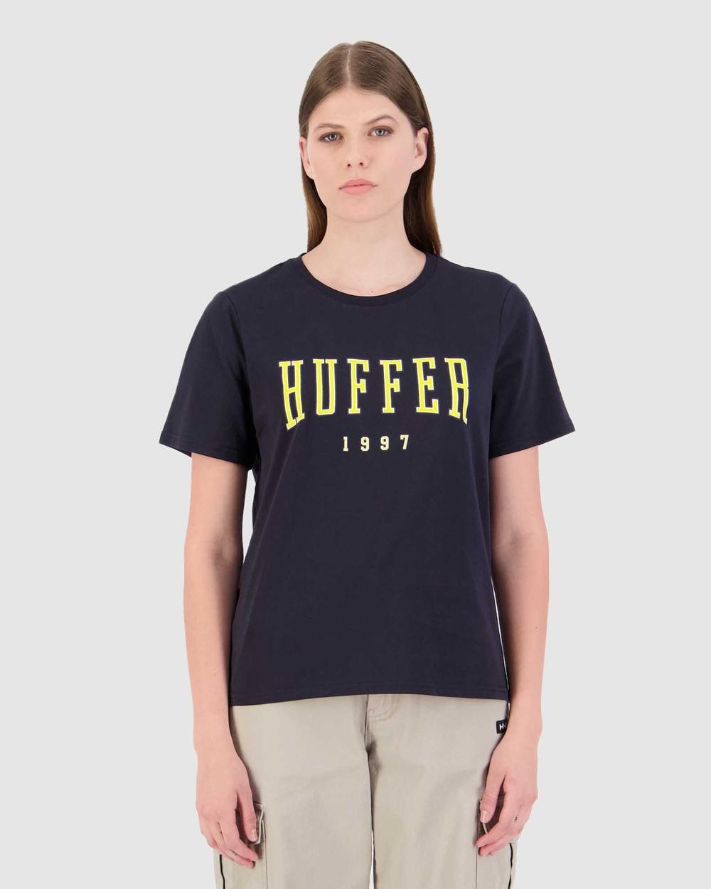 Huffer Women's Stella Tee Echo T-Shirts & Singlets Blue Tee-Echo Australia