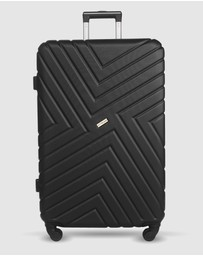 JETT BLACK - Black Maze Series Large Suitcase