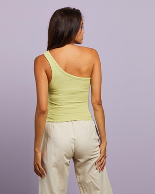 Nude Lucy Finely Ribbed Tank - Tops (Celery)