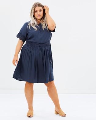 JUNAROSE – JR Ezgi SS Above Knee Dress Ombre Blue
