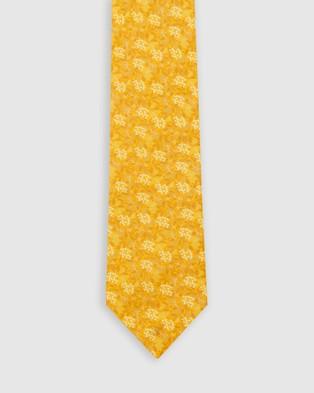 Buckle Jocelyn Proust   Tie & Pocket Square Set - Ties (Yellow)