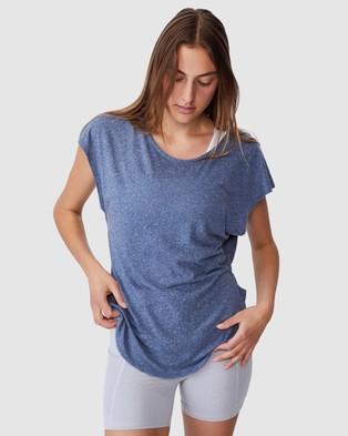 Cotton On Body Active - Active Scoop Hem T Shirt - Short Sleeve T-Shirts (Steel Blue Marle) Active Scoop Hem T-Shirt