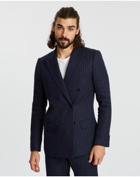 AERE - Double Breasted Linen Blazer