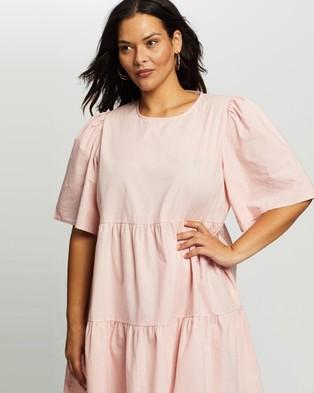 Atmos&Here Curvy Amora Cotton Mini Dress - Dresses (Pink)