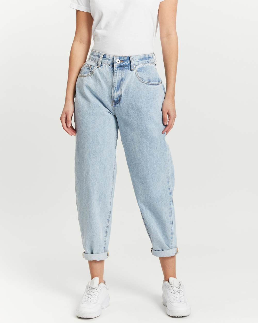 Cotton On Petite Slouch Mom Jeans High-Waisted Roadknight Blue Australia