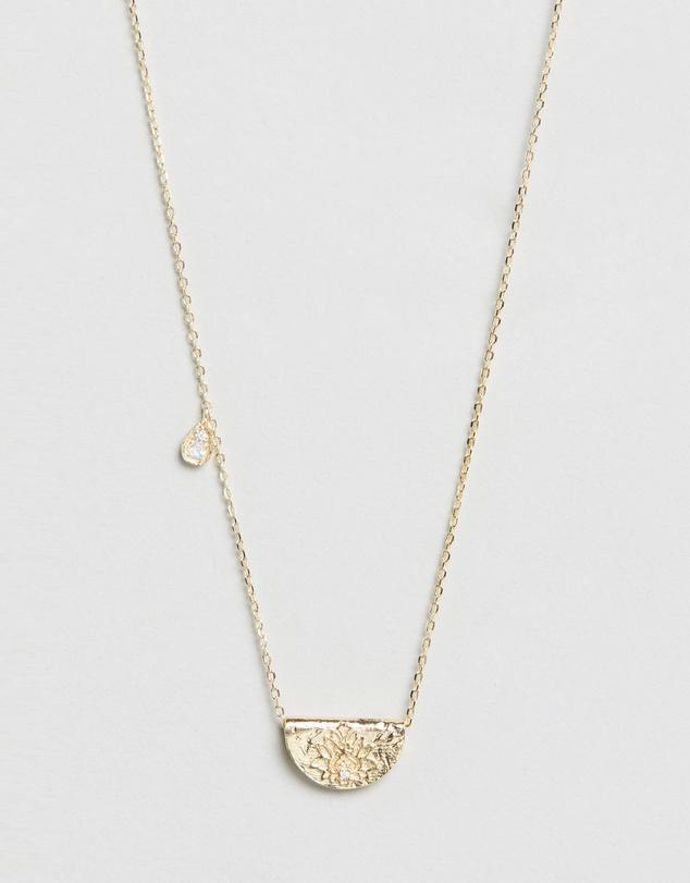 Women June Love Deeply Gold Pendant Necklace