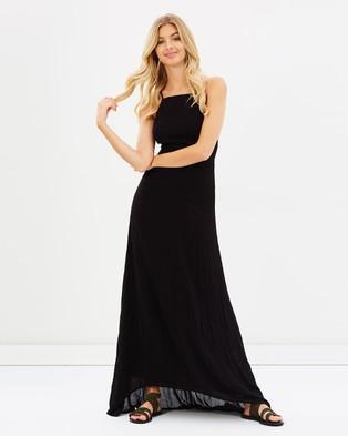 Girl & The Sun – Luna Tie Back Dress Black