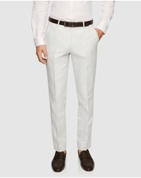 yd. - Luis Linen Slim Dress Pant