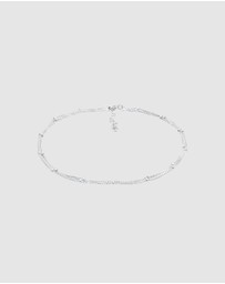 Elli Jewelry -  Anklet Basic Balls Timeless 925 Sterling Silver