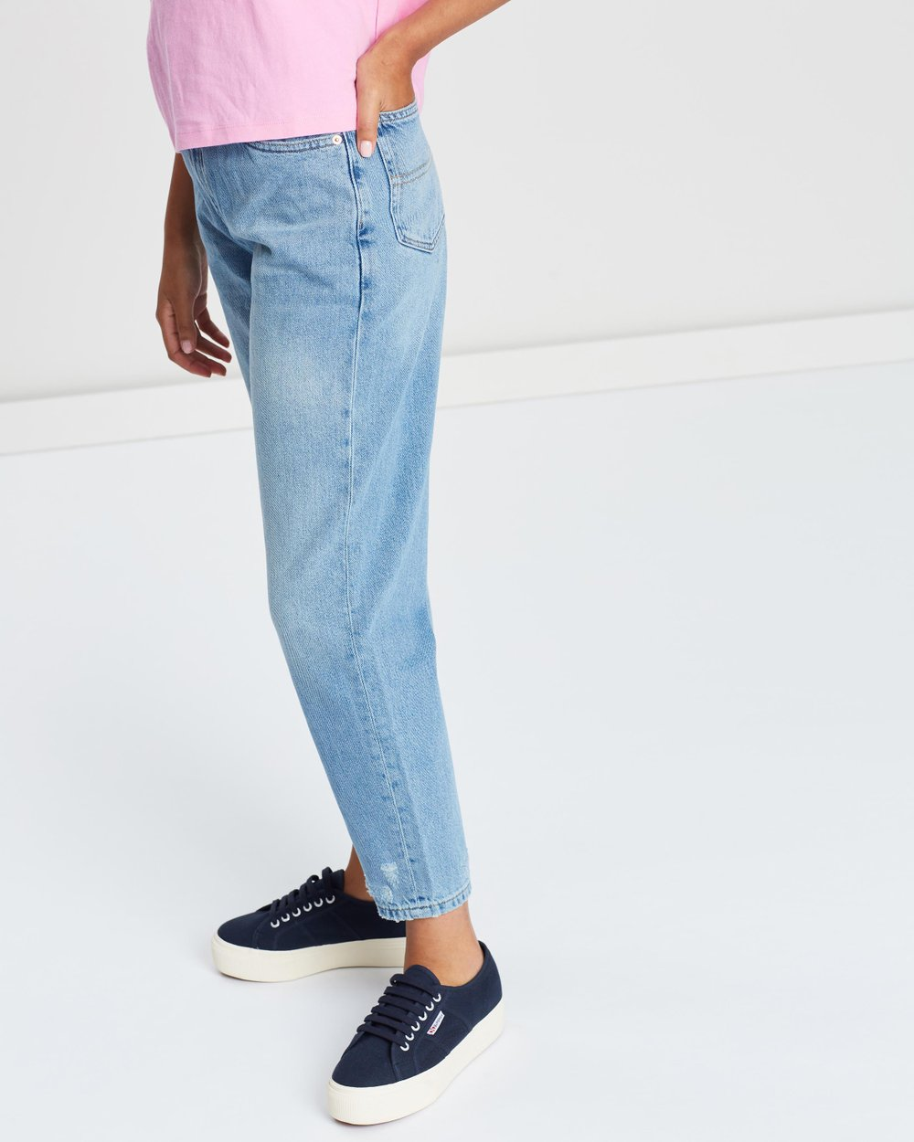 b30ffae1b High-Rise Tapered Mom Jeans by Tommy Jeans Online | THE ICONIC | Australia