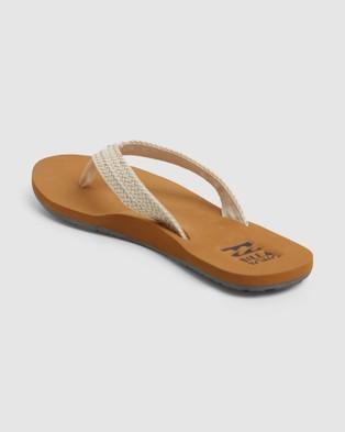 Billabong - Kai Sandals Flats (WHITE CAP)