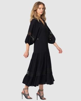 Three of Something Sweet Escape Maxi Dress - Dresses (BLACK)