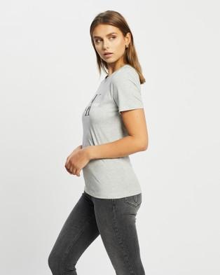 Calvin Klein - Core Monogram Logo T Shirt Short Sleeve T-Shirts (LIGHT GREY HEATHER) T-Shirt