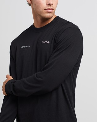Afends Fight Retro Fit Long Sleeve Tee - T-Shirts & Singlets (Black)