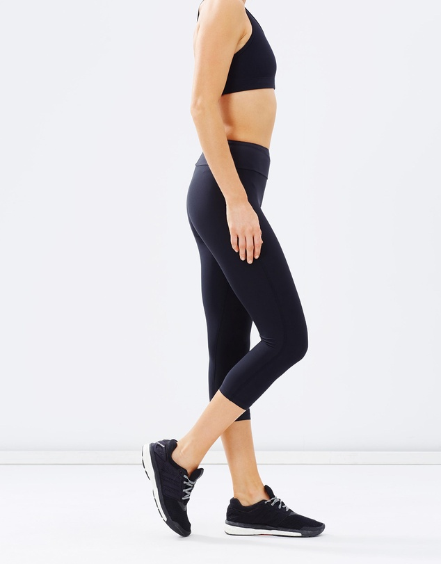 Running Bare - High-Rise Runway Ready 3/4 Tights