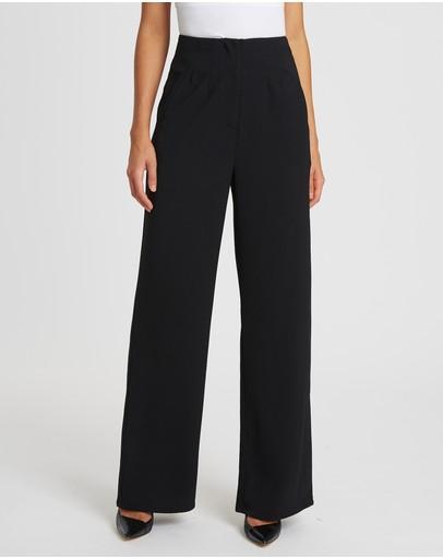 Willa Chancellor Straight Leg Pants Black