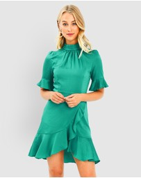 Forcast - Nicole Jacquard Ruffle Dress