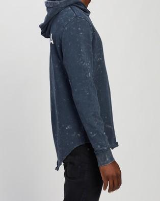 Nena & Pasadena Reckless Hooded Dual Curved Sweater - Hoodies (Acid Navy)