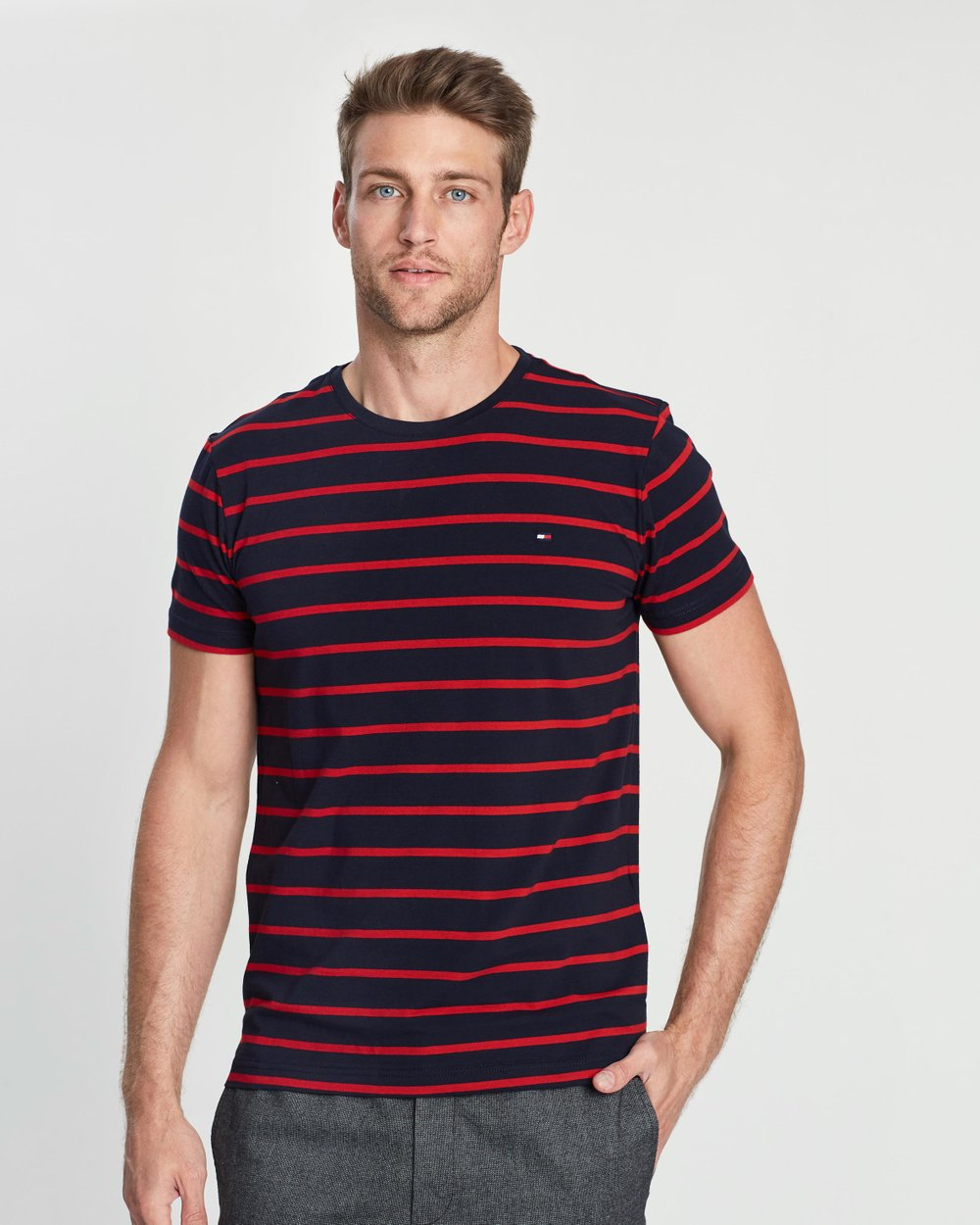 7f6b58f36 Stretch Slim Fit Tee by Tommy Hilfiger Online | THE ICONIC | Australia