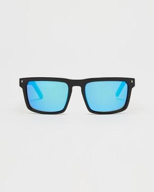 UNIT Primer Polarised Sunglasses - Square (Black & Blue)