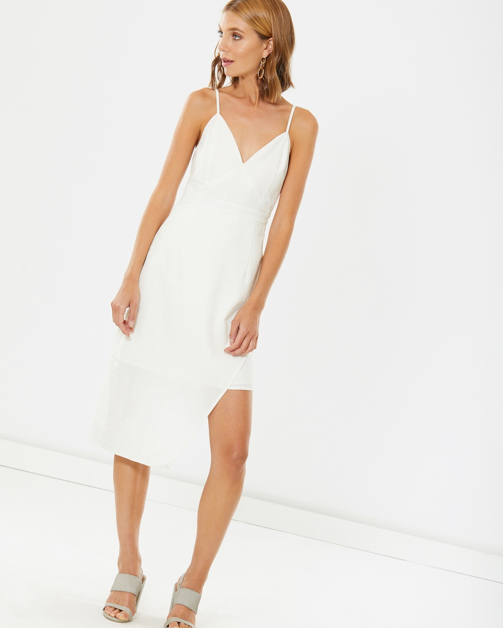 Calli Zoey Panelled Dress Dresses White Zoey Panelled Dress