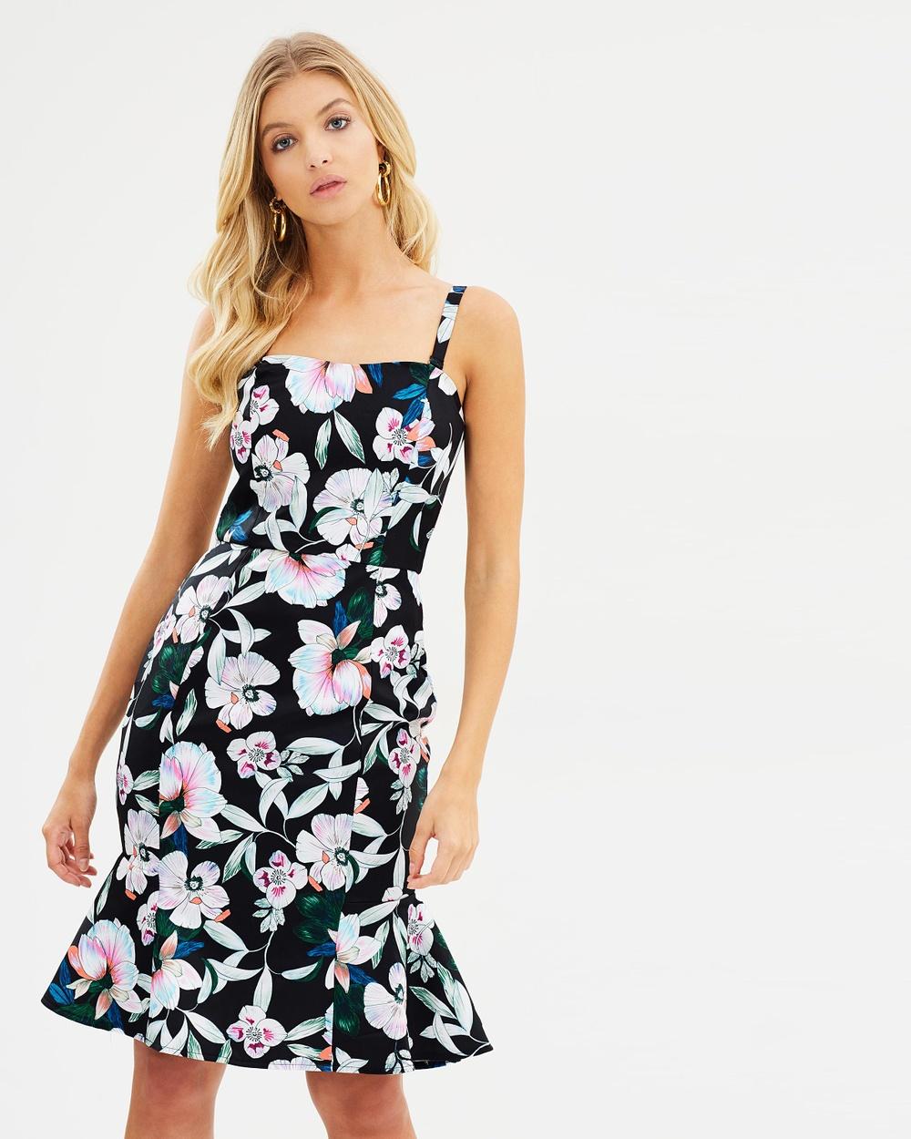 Cooper St Whimsical Blooms Strapless Midi Dress Printed Dresses Print Whimsical Blooms Strapless Midi Dress