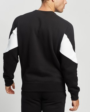 Champion EU Mod Block Crew - Sweats (Black)