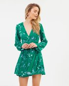 Dusk Meadow Wrap Dress