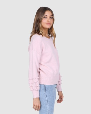 Madison The Label Sorrento Knit - Jumpers & Cardigans (Dusty Pink)
