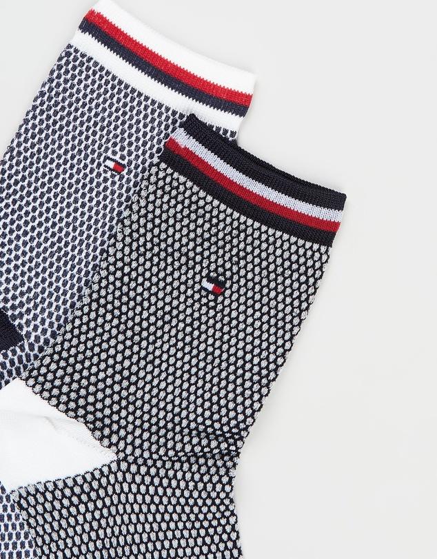 Women Collegiate Honeycomb Short Socks 2-Pack