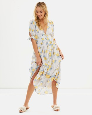 Free People – Love Of My Life Printed Dress – Printed Dresses Neutral Combo