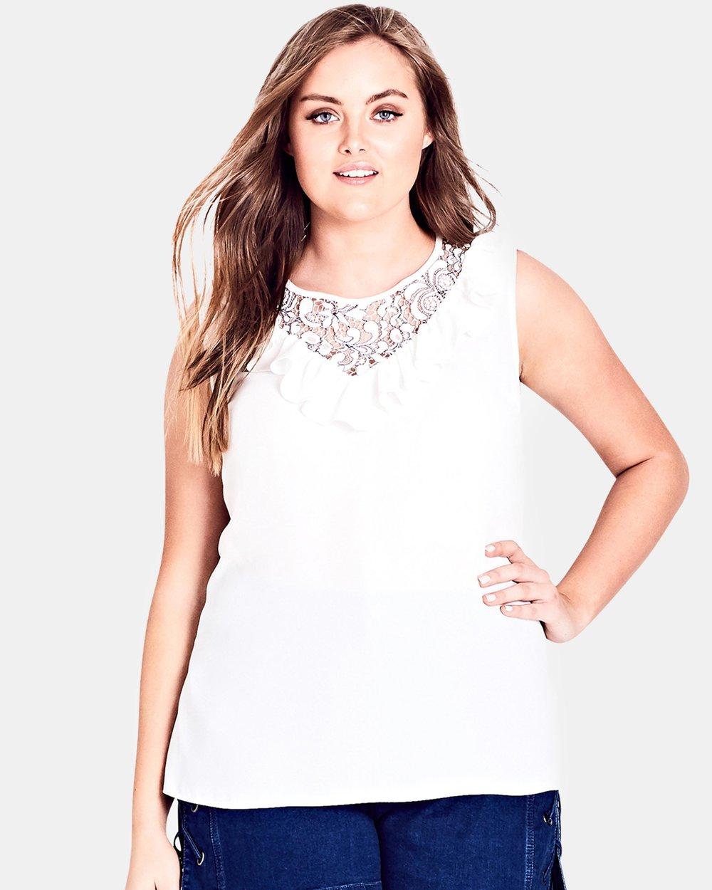 f749f270a Lace Romance Shirt by City Chic Online