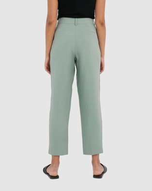Forcast Mia Tapered Trousers - Pants (Sea Sage)