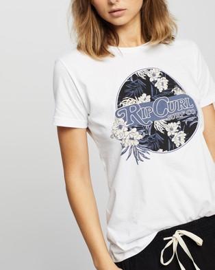 Rip Curl Tropic Beach Days Tee - T-Shirts & Singlets (White)