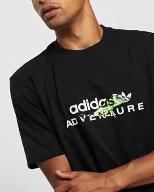 adidas Originals adidas Adventure Big Logo Tee - T-Shirts & Singlets (Black)