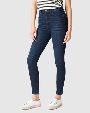 Mavi Scarlett Jeans - High-Waisted (Deep Indigo Organic)