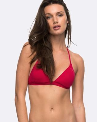 Roxy – Womens Strappy Love Fixed Tri Separate Bikini Top – Bikini Tops (PERSIAN RED)