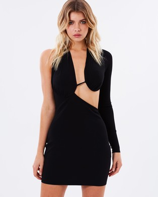 Bec & Bridge – Warriors Keeper Asymmetrical Dress – Bodycon Dresses (Black)