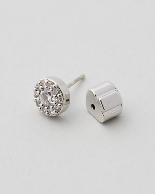 Kate Spade Something Sparkly Pave Studs - Jewellery (Clear & Silver)