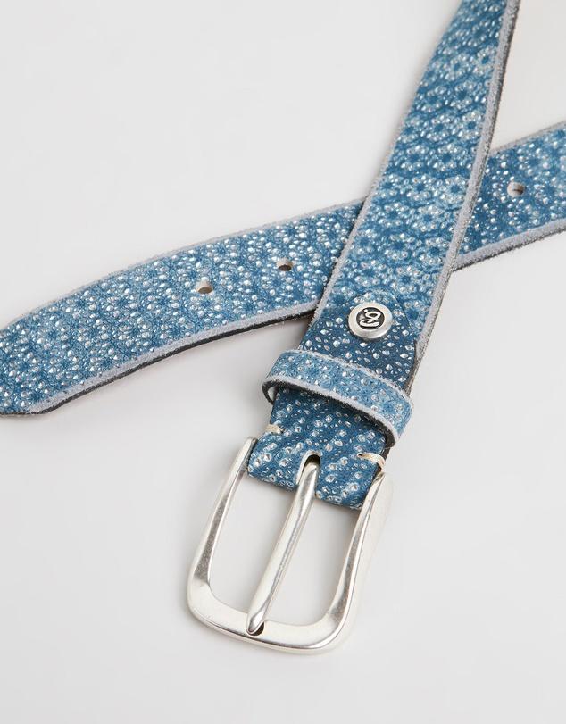 Women Metallic Leather Belt