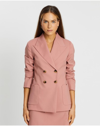 Alexachung Double Breasted Tailoring Jacket Soft Pink