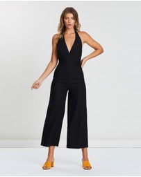 Atmos&Here - ICONIC EXCLUSIVE - Evie Linen Halter Neck Jumpsuit