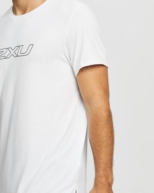 2XU Contender SS Tee - Short Sleeve T-Shirts (White & Black)