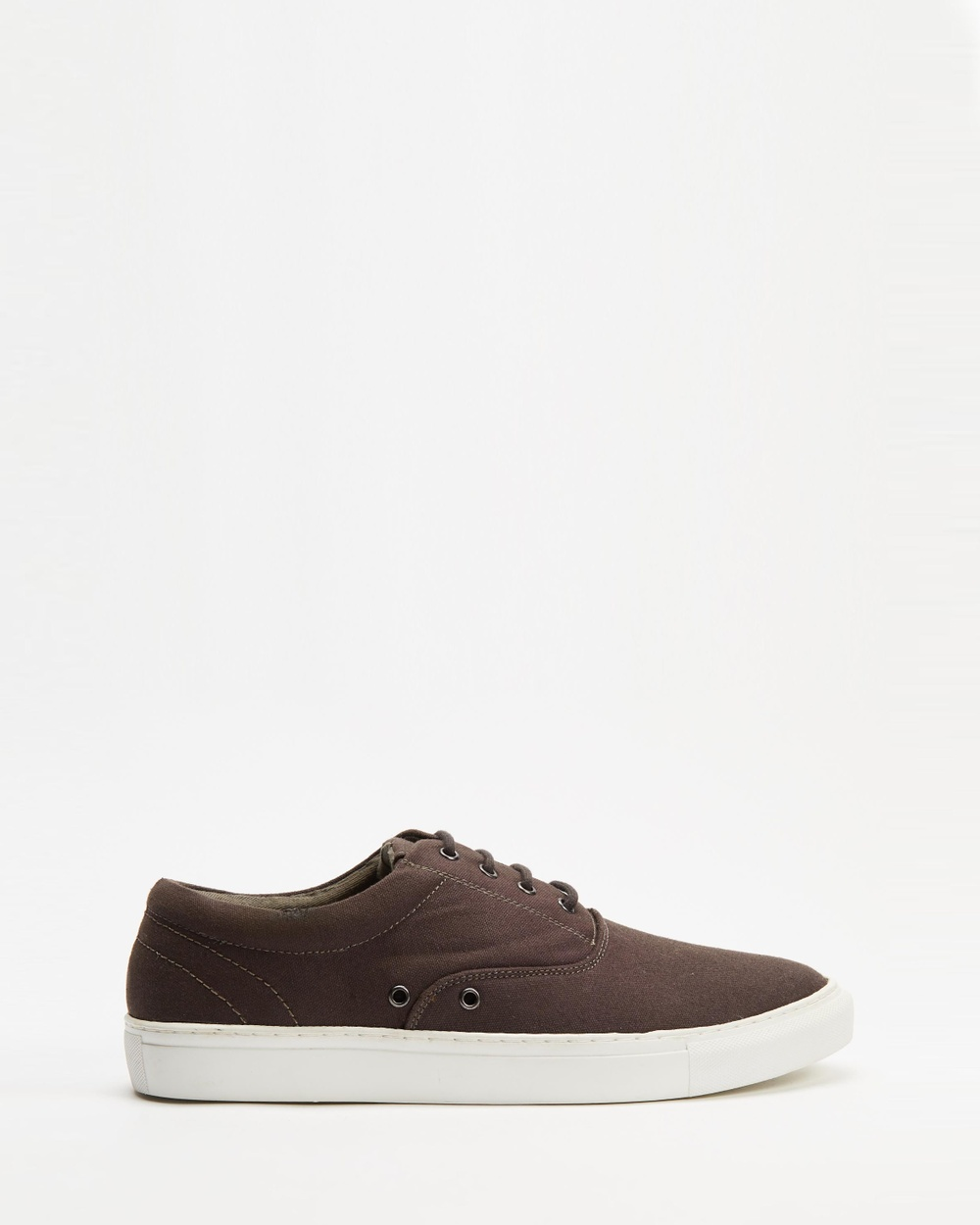AERE Organic Canvas Deck Shoes Sneakers Charcoal