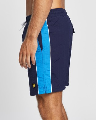 Lyle and Scott Side Panel Swim Shorts - Swimwear (Navy)