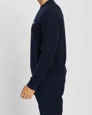 Ben Sherman Lightweight Fabric Interest Crew Sweatshirt - Sweats (Dark Navy)