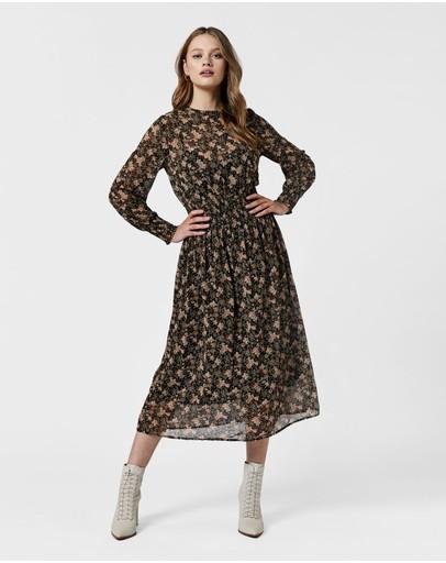 Mvn Montana Midi Dress Black