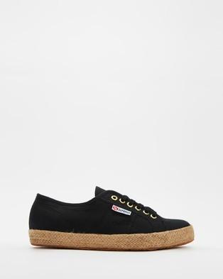 Superga 2750 Cotropeu   Women's - Sneakers (Black & Gold)