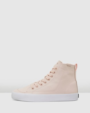 Volley Deuce Leather High - High Top Sneakers (Blush Leather)