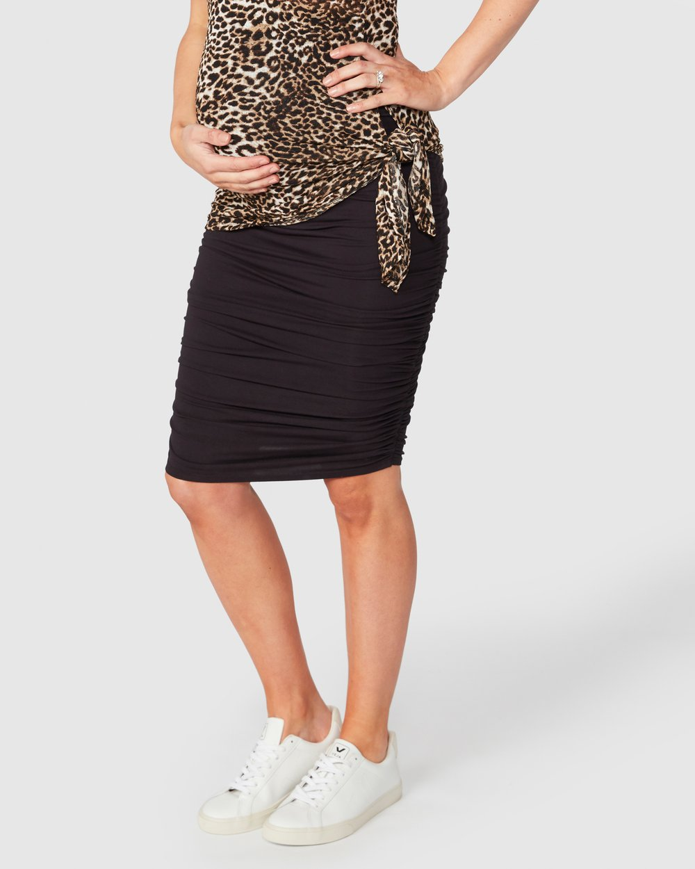 1db802ab59 Bailey Gather Pencil Skirt by Pea in a Pod Maternity Online
